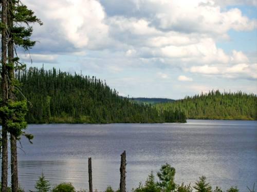 Vue du lac Crevet